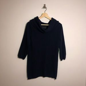 Cynthia Rowley 100% Cashmere Navy Blue Sweater